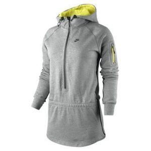 New Nike Grey AW 77 mid season half zip hoodie S